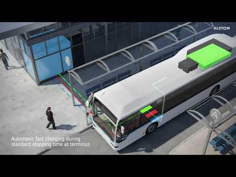 Alstom Presents SRS Ground-Based Charging System For Buses