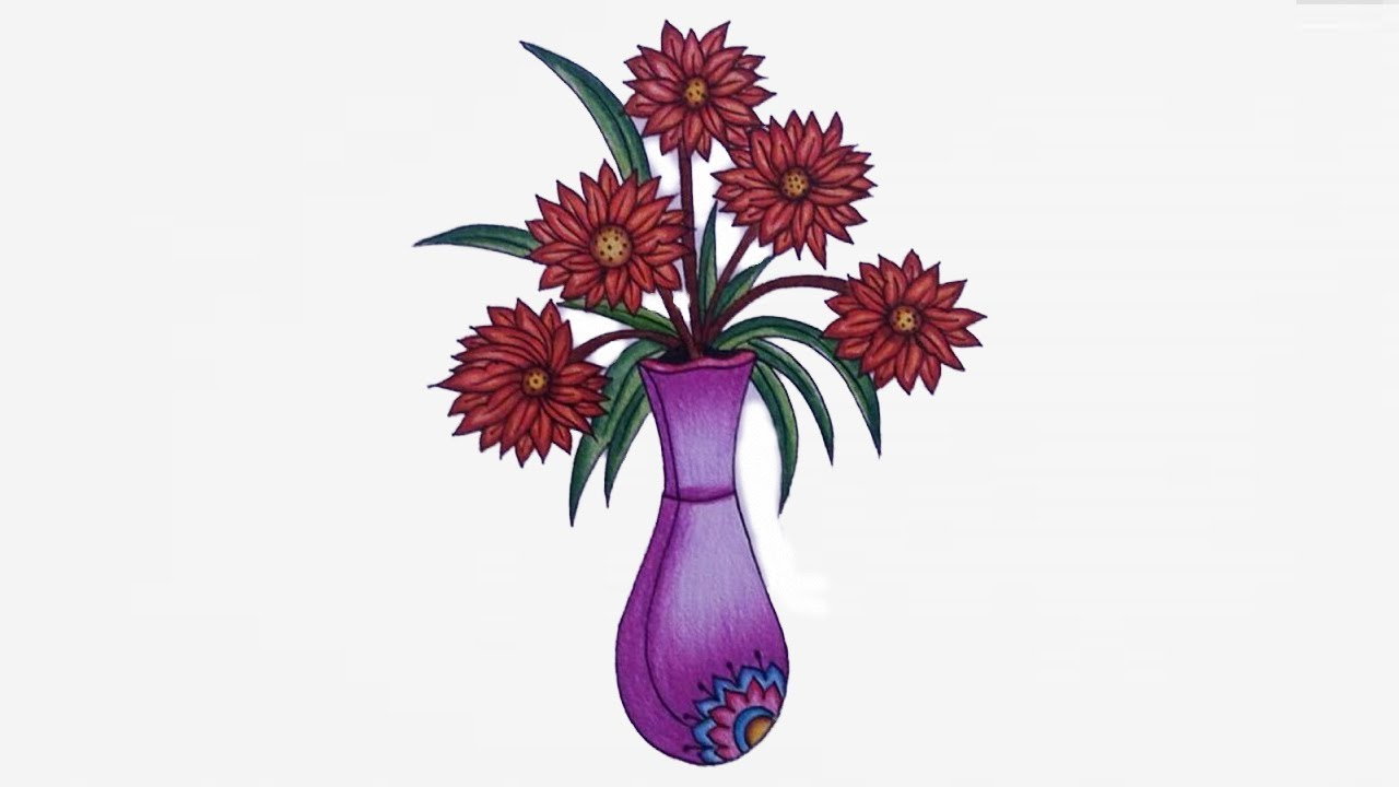 How to draw flower vase step by step draw vase easy youtube how to draw flower vase step by step draw vase easy reviewsmspy