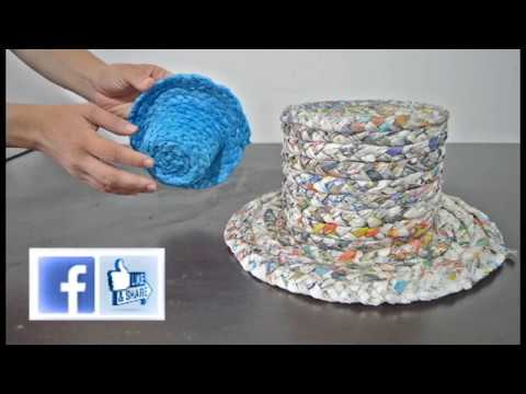 e6e62c131b386 Elmejor sombrero de papel reciclado - YouTube