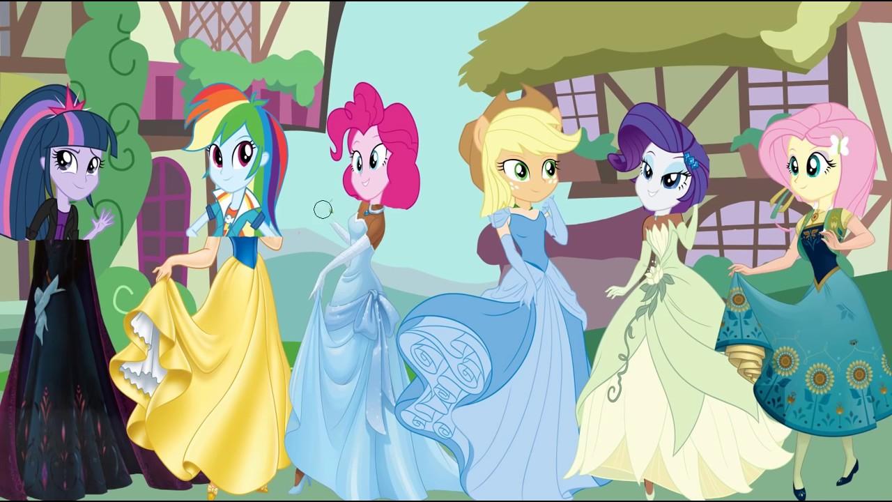 My Little Pony Transforms Into Disney Princess Equestria