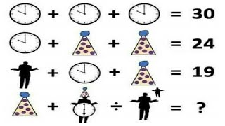 Clock, Man and Cap Viral Maths Puzzle - Only for Genius