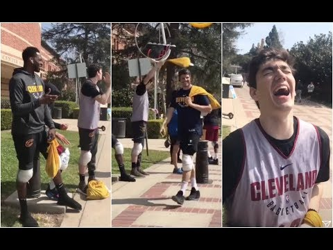 Jeff Green & Cedi Osman trolling the other Cavaliers in Los Angeles