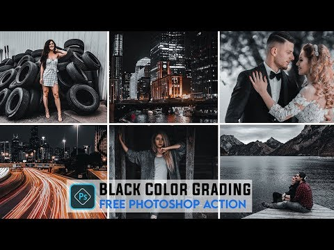 Photoshop Tutorial _ Black Color Grading Effect In Photoshop | Free Photoshop Action.