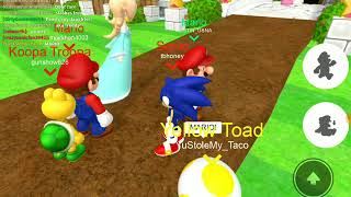 Super Mario RP in Roblox. IM SONIC! TM Gamer Gaming with Talia