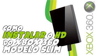 XBOX 360 - Como INSTALAR o HD interno no XBOX 360 SLIM