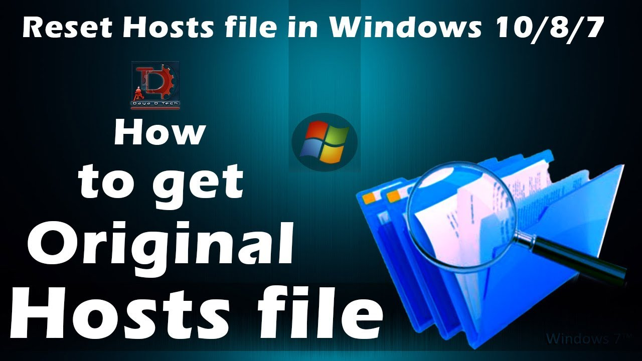 how to find hosts file in windows 10