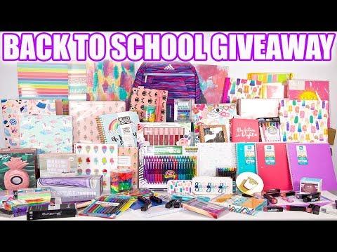 Biggest Back To School Giveaway EVER! 2 WINNERS - Open International