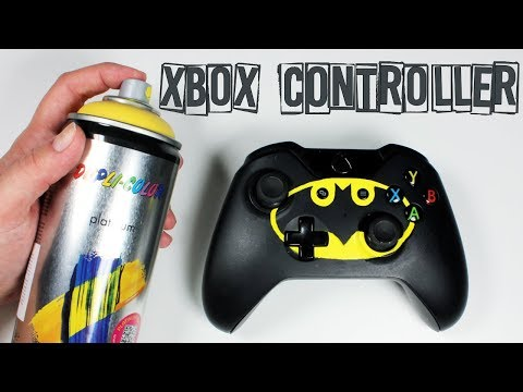 XBOX ONE Batman DIY Controller Spray Paint