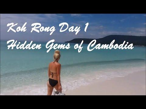 Backpacking Koh Rong Island Cambodia   THE BEST BEACH!   Hidden gems