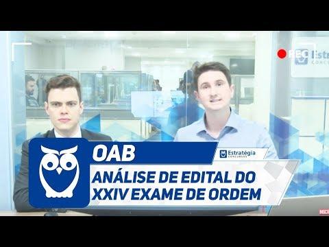 OAB - Análise de Edital do XXIV Exame de Ordem   Ao Vivo