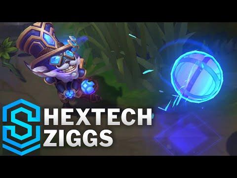 Hextech Ziggs Skin Spotlight - Pre-Release - League of Legends