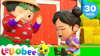 Accidents Happen Boo Boo Song @Lellobee City Farm - Cartoons & Kids Songs | Sing Along With Me!