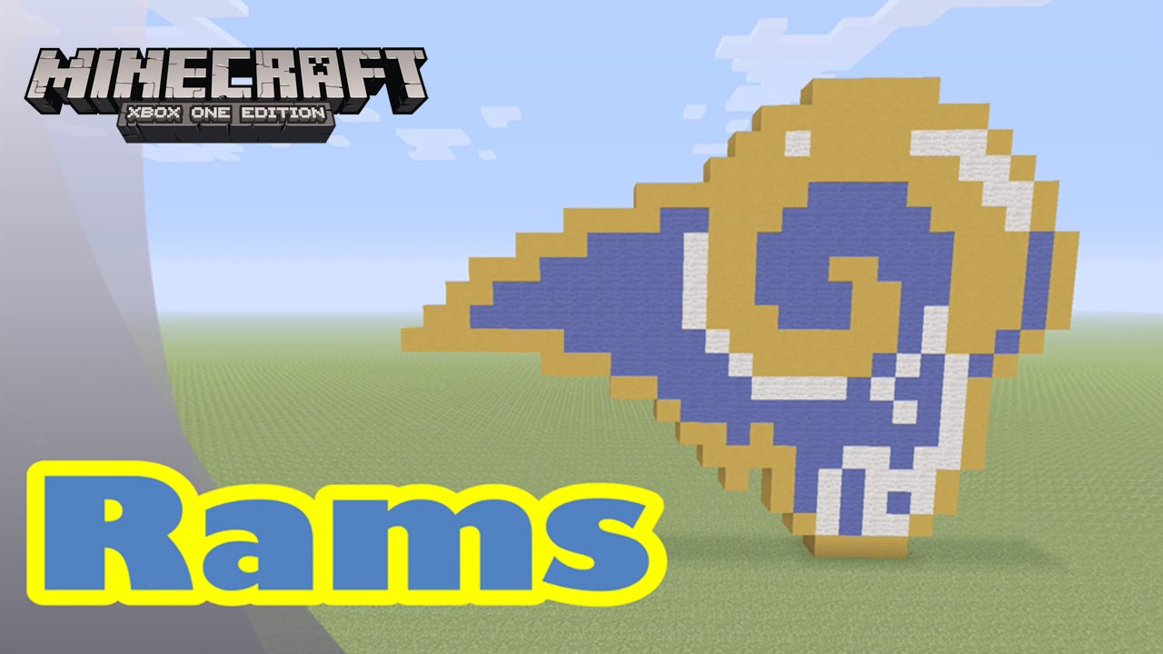 Minecraft Pixel Art Tutorial And Showcase Los Angeles Rams Formerly The St Louis Rams Nfl