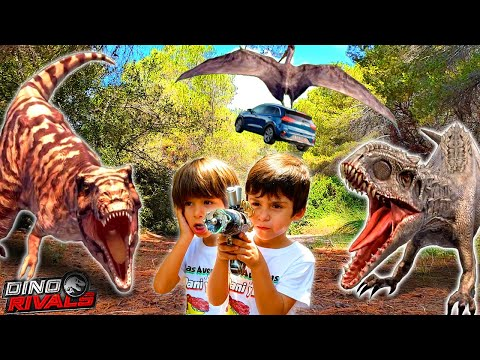 Dani y Evan, Los Coleccionistas de Dino Rivals , LA PELICULA de DINOSAURIOS