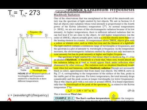 27 2 Blackbody Radiation; Planck's Quantum Hypothesis PI