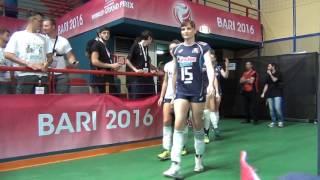 18-06-2016: Bari WGP - L'ingresso in campo dell'Italia per la sfida con l'Olanda