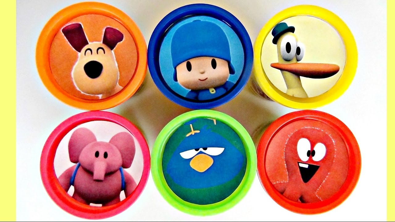 LET'S GO POCOYO! Play-doh Toy Lids   Toys Unlimited