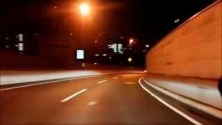 フィアット500C 首都高新井宿IC~三宅坂JCT