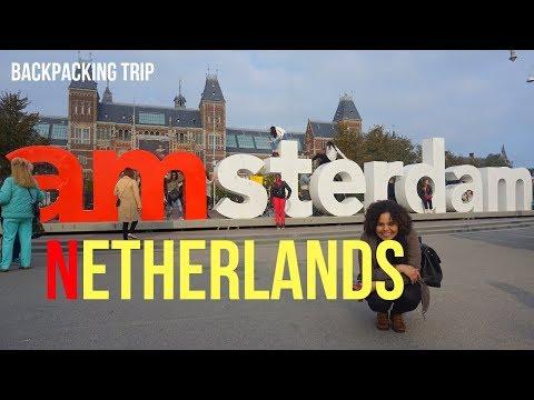 TRAVEL VLOG |BACKPACKING EUROPE PART 7 AMSTERDAM,NETHERLANDS