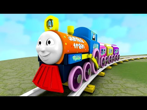 Blippi Choo Choo Train for Kids - Toy Factory Cartoon Train Show for Kids