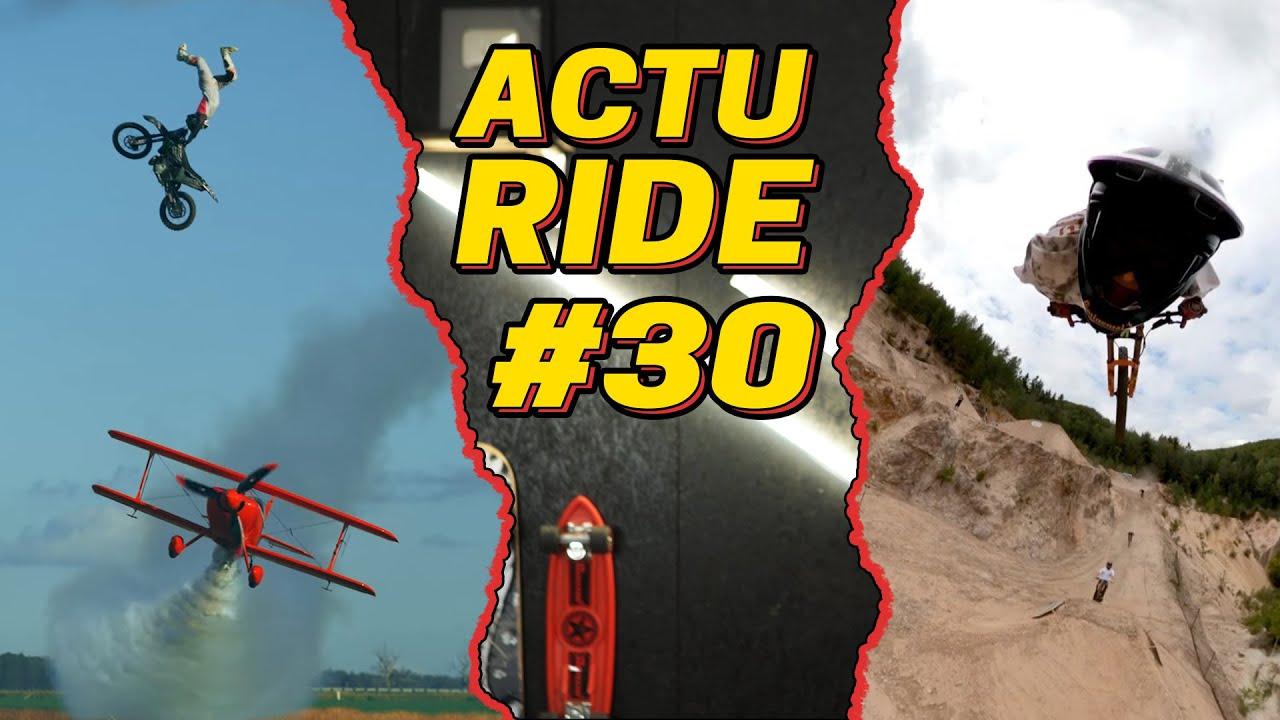 ACTU RIDE #30 : VTT survole le Tour de France, il saute par dessus un avion, les meilleurs tricks !