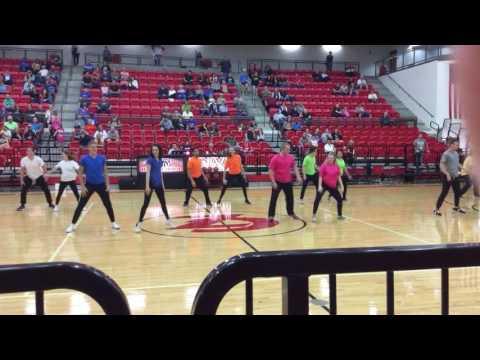 claremore high school 2016 boy girl dance basketball senior night