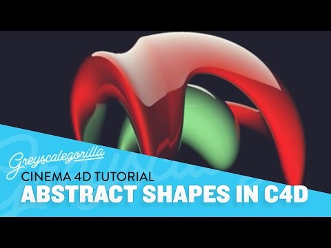 Making Abstract Shapes In Cinema 4D