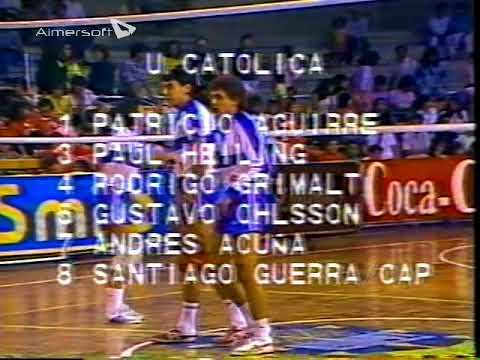 Universidad católica vs Universidad de Chile Voleibol adulto varones 1988