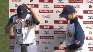 3月22日 オリックス5-4楽天 岸田とラロッカのヒーローインタビュー