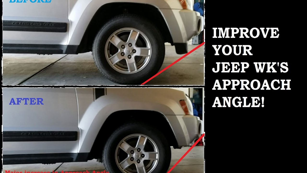 how to remove a jeep wk lower fascia air dam for 2005 2007 improve your approach angle  [ 1280 x 720 Pixel ]