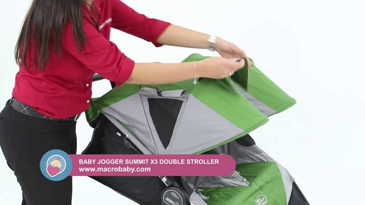 Macrobaby Baby Jogger Summit X3 Double Stroller