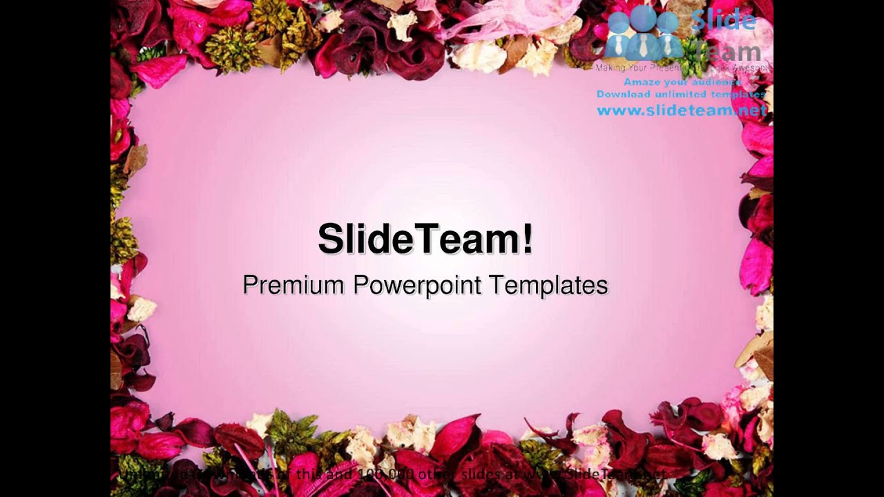 dried flowers frame background powerpoint templates themes and, Modern powerpoint