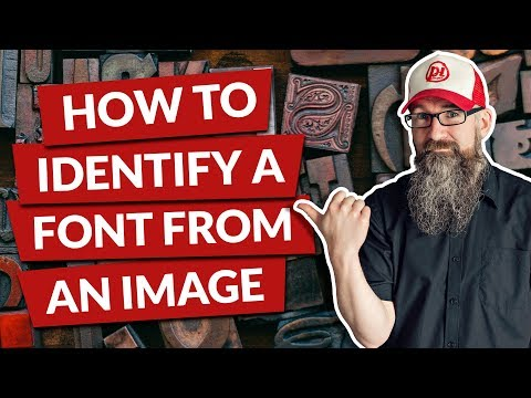 How to identify a font from an image