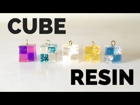 【RESIN】キューブピアス/How to make resin cube earrings