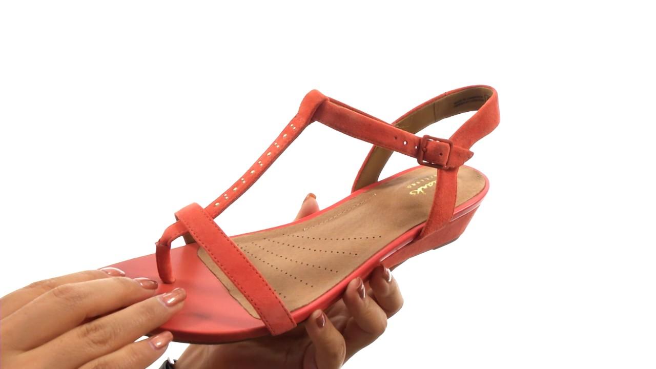 CLARKS Womens Parram Blanc Sandal