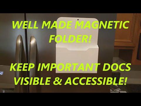 review-fridge-magnetic-file-holder---magnetic-holder,-pocket-organizer