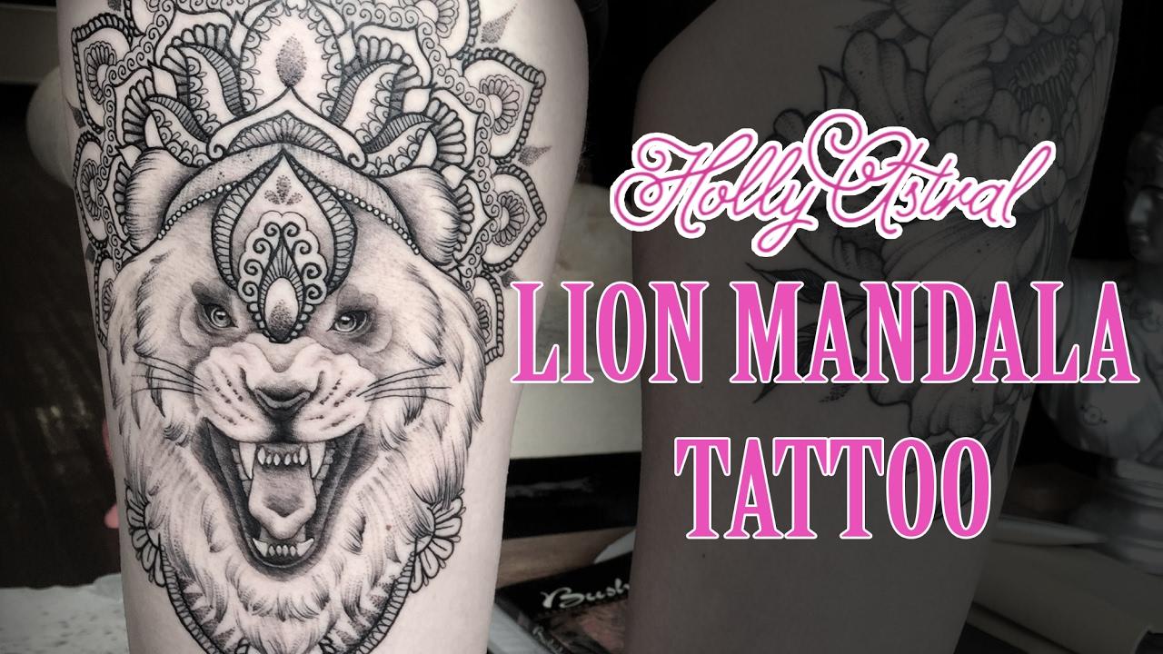40a3e9922 LION MANDALA TATTOO time lapse - YouTube