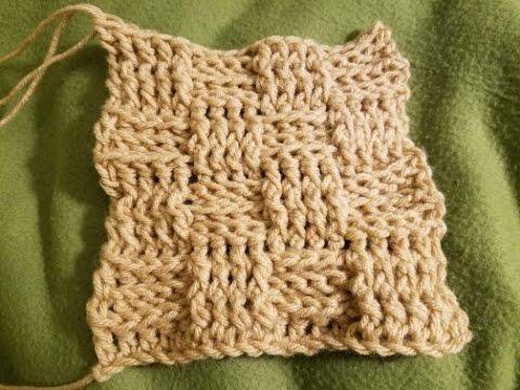 "The ""Basketweave Stitch"" Crochet Tutorial"