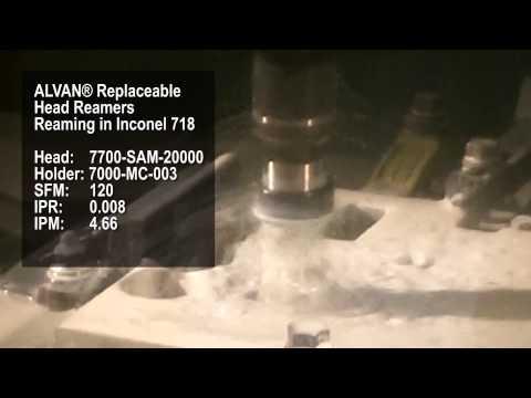 SCAMI - Escariado de Inconel 718 con escariador expandible con punta intercambiable