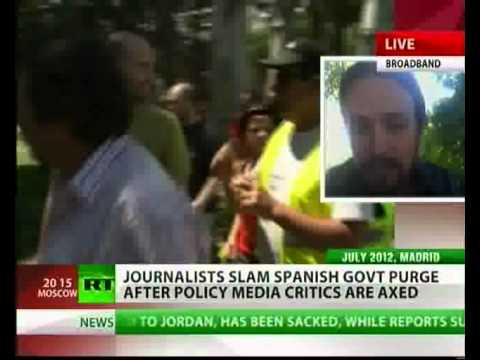 """Public television in Spain is going to be the Ministry of Truth"" Pablo Iglesias on Russia Today"