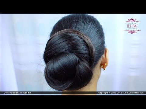 Indian Classic Everyday Knot Bun | Hairstyle For School, College & Work | Indian Hairstyles