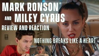 Mark Ronson feat. Miley Cyrus - Nothing Breaks Like a Heart - Review and Reaction Video