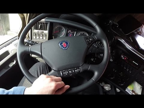 Kamionnal Európában - Scania R410 interior - a fülke bemutatása