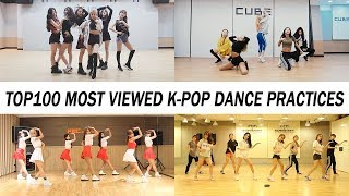 top 100 most viewed k pop dance practices • november 2018