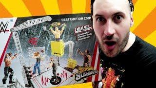 WWE Mattel Sound Slammers Destruction Zone Playset Review!!!