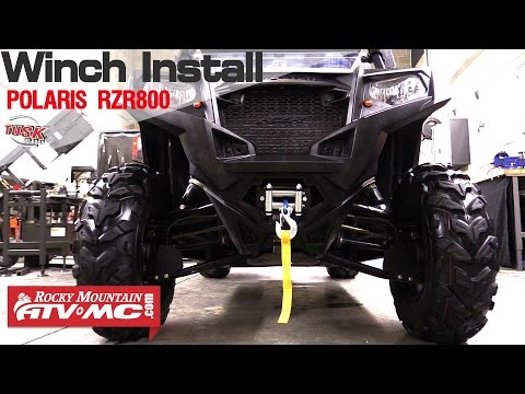 Polaris RZR 800 Tusk Winch Installation YouTube