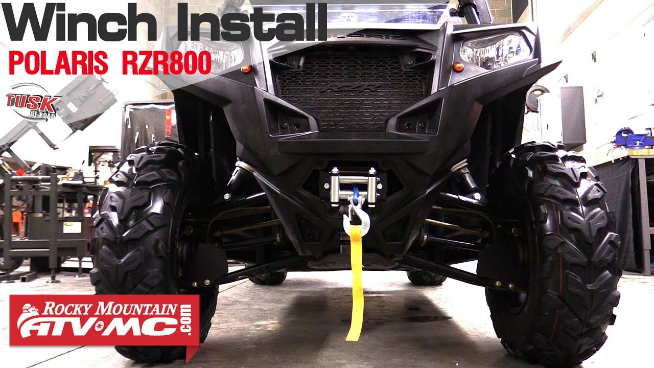 hight resolution of polaris rzr 800 tusk winch installation