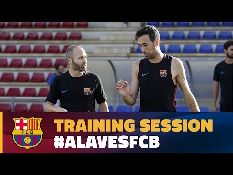 FC Barcelona: Last training session before the trip to Vitoria