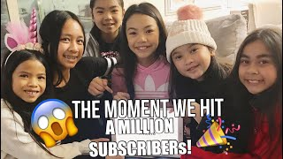 the moment we hit a million😱