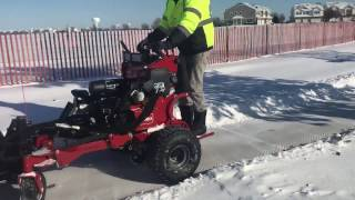 Sidewalk snow removal done in seconds